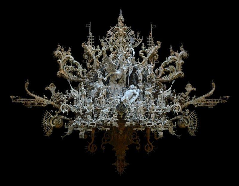 """""""Горе"""" Крис Кукси, бог мелочей, из какого сора, искусство, подручные материалы, скульптура, статуи, творчество"""