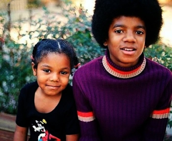 6. Джанет и Майкл Джексоны взросление, голливуд, детские фото, знаменитости, изменения