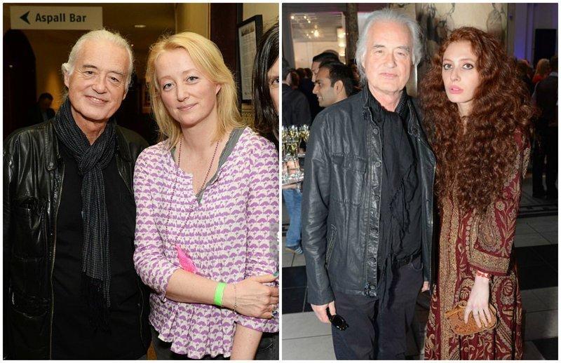 2. Джимми Пейдж, музыкант Led Zeppelin, 74 года в мире, звезды, знаменитости, люди, отношения, пары, слава, фото