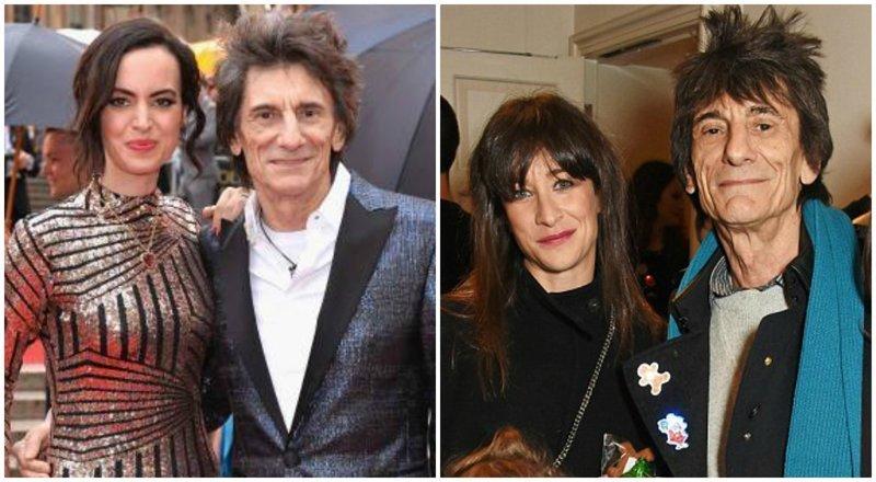5. Ронни Вуд, гитарист The Rolling Stones, 70 лет в мире, звезды, знаменитости, люди, отношения, пары, слава, фото