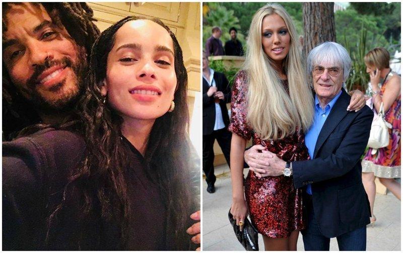 Жена или дочь? 7 звёздных мужчин с молодыми спутницами в мире, звезды, знаменитости, люди, отношения, пары, слава, фото
