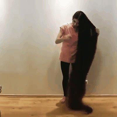 волосы, девушки, длинные волосы, жесты, прикол, шутки, юмор