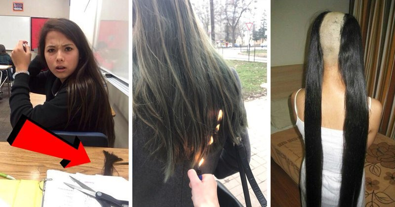 Дичайшие проблемы длинноволосых девушек, с которыми они так часто сталкиваются волосы, девушки, длинные волосы, жесты, прикол, шутки, юмор