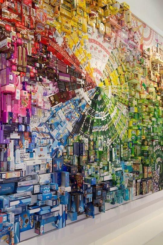 И радуга из разных упаковок Фабрика идей, красота, мастера, радуга, рукоделие