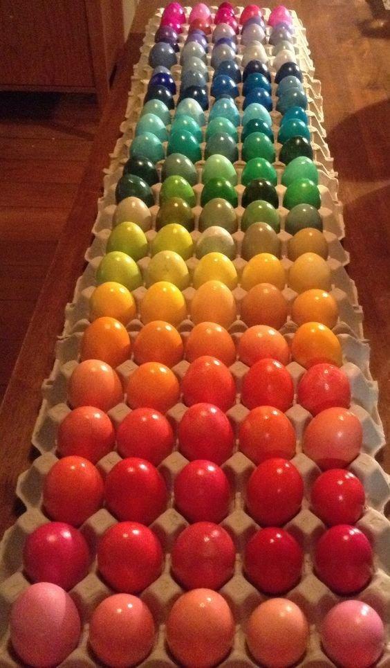 Яйца в виде радуги Фабрика идей, красота, мастера, радуга, рукоделие