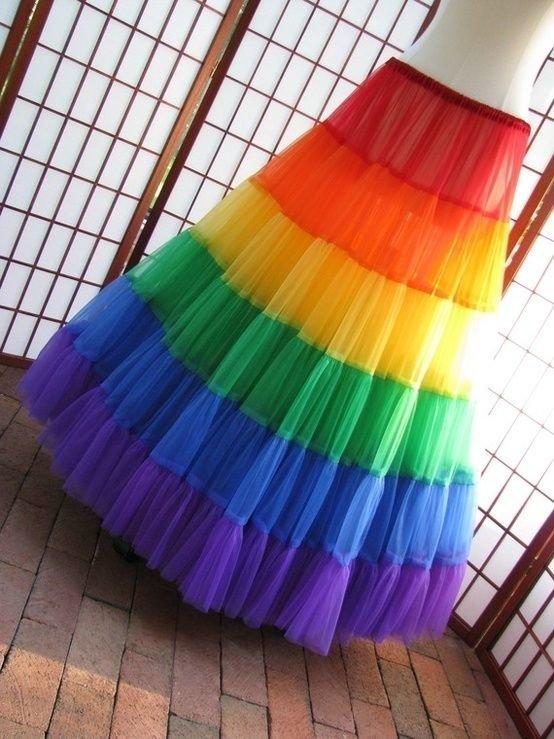 Или сшейте радужную юбку Фабрика идей, красота, мастера, радуга, рукоделие