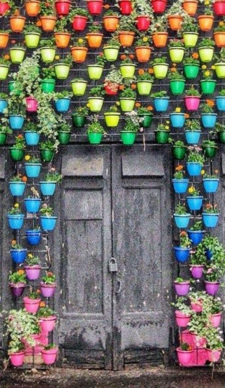 То можно сделать в саду радужную красоту Фабрика идей, красота, мастера, радуга, рукоделие