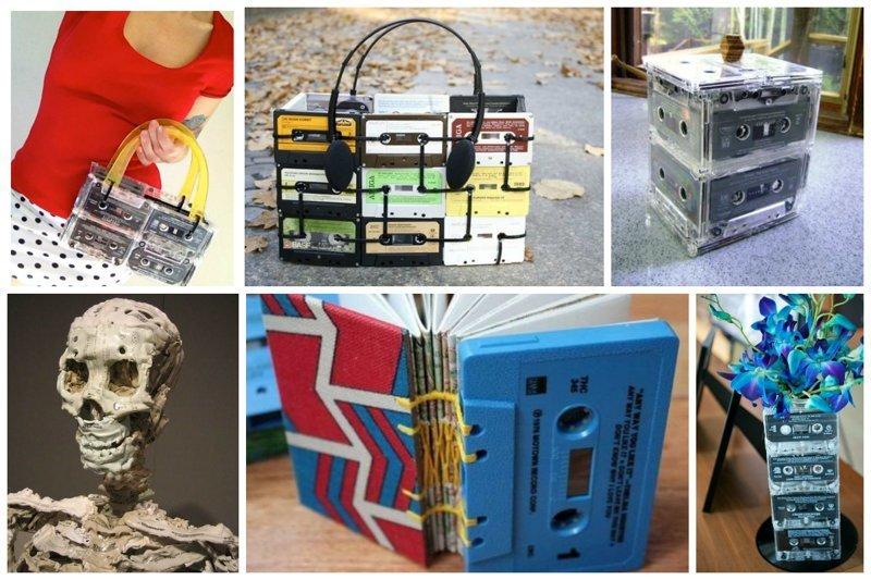 Фантастические идеи применения старых аудиокассет Аудиокассеты, Фабрика идей, дизайн, идеи, интересное