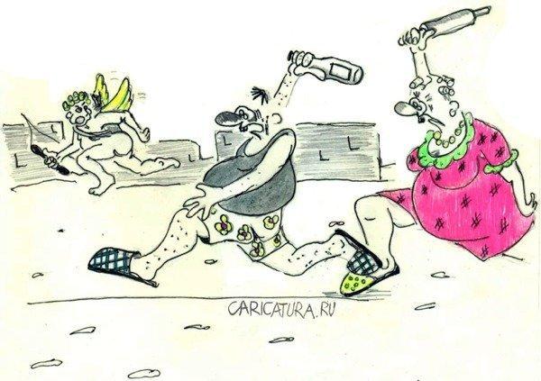 Стрелы Купидона карикатуры, любовь., юмор