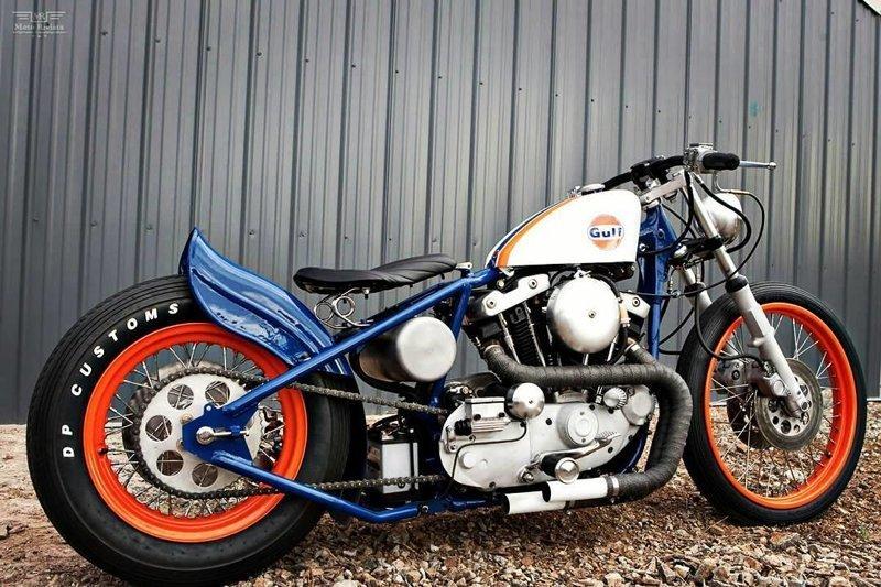 Поэтому боббер стал не только гоночным мотоциклом, но и средством передвижения боббер, мото, мотоцикл, харлей, чоппер