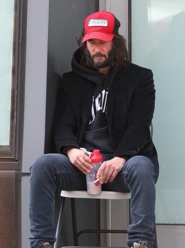 Киану Ривза теперь легко спутать с бездомным ynews, внешность, депрессия, киану ривз, неряшлевость