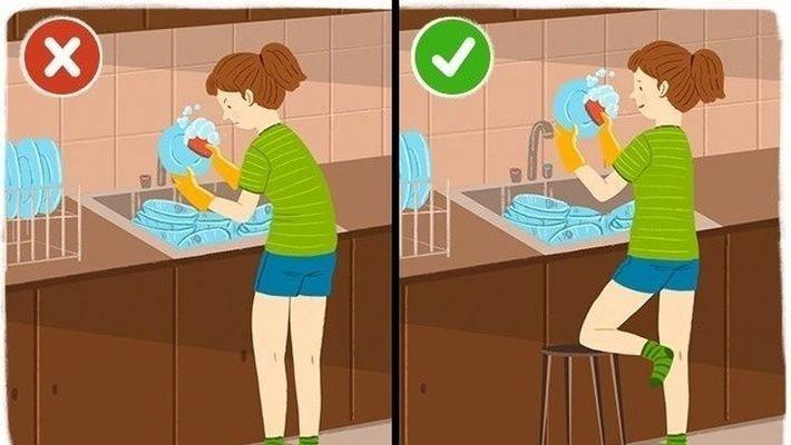 2. Моем посуду  забота о здоровье, здоровые, позвоночник, спина