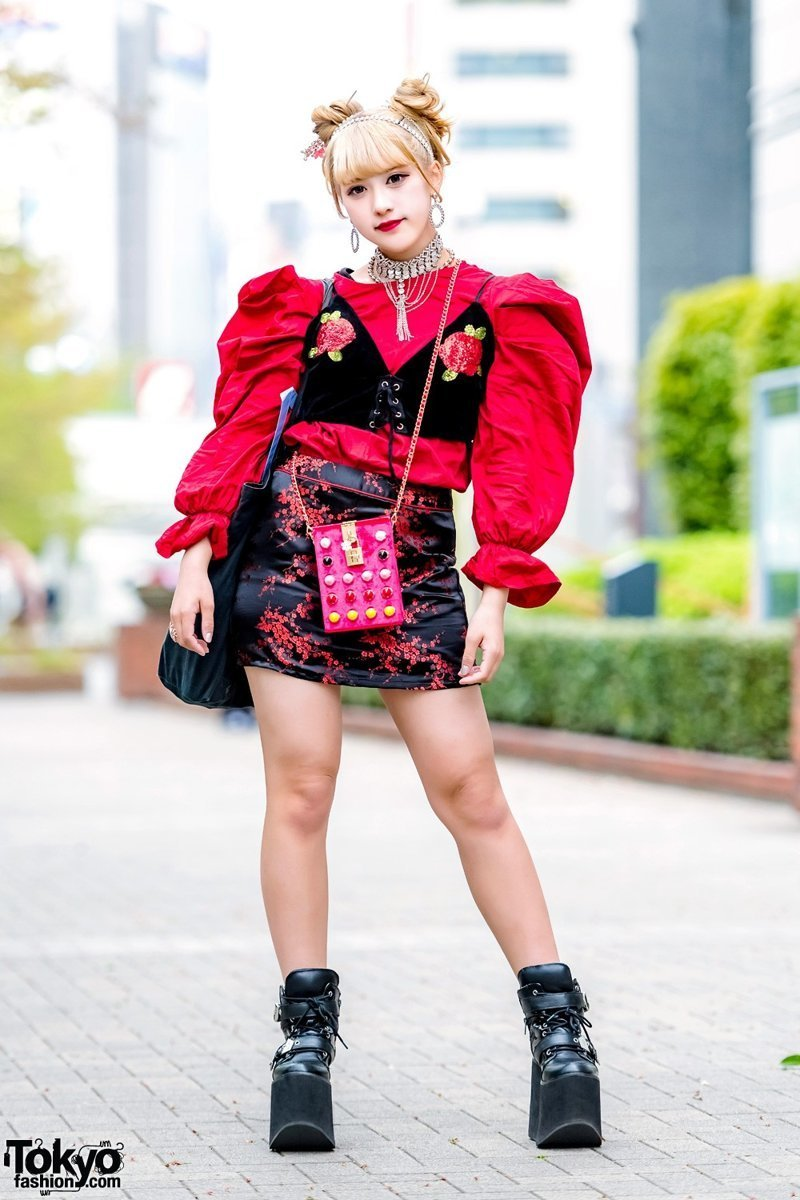 Модные персонажи на улицах Токио в мире, красота, люди, мода, модники, одежда, токио