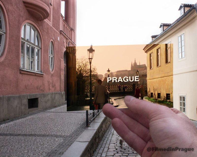 """14. """"Миссия невыполнима"""" (1996 г.) Все приключения начинаются с Праги воссоздание, интересно, кадры из фильма, кино, красота, места из фильма, прага, фотопроект"""