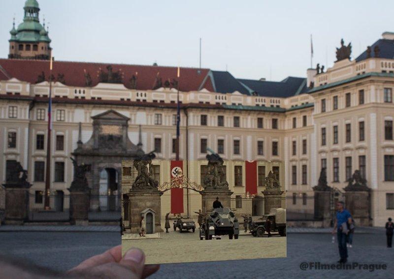 """13. """"Антропоид"""" (2016 г.) В этой сцене Рейнхард Гейдрих возвращается из поездки в Пражский замок воссоздание, интересно, кадры из фильма, кино, красота, места из фильма, прага, фотопроект"""