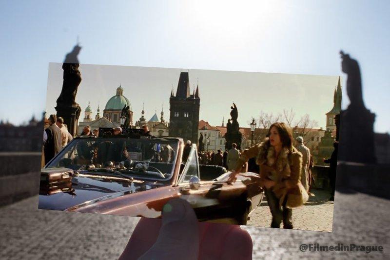 """16. """"Три икса"""" (2002 г.) Сцена на Карловом мосту воссоздание, интересно, кадры из фильма, кино, красота, места из фильма, прага, фотопроект"""