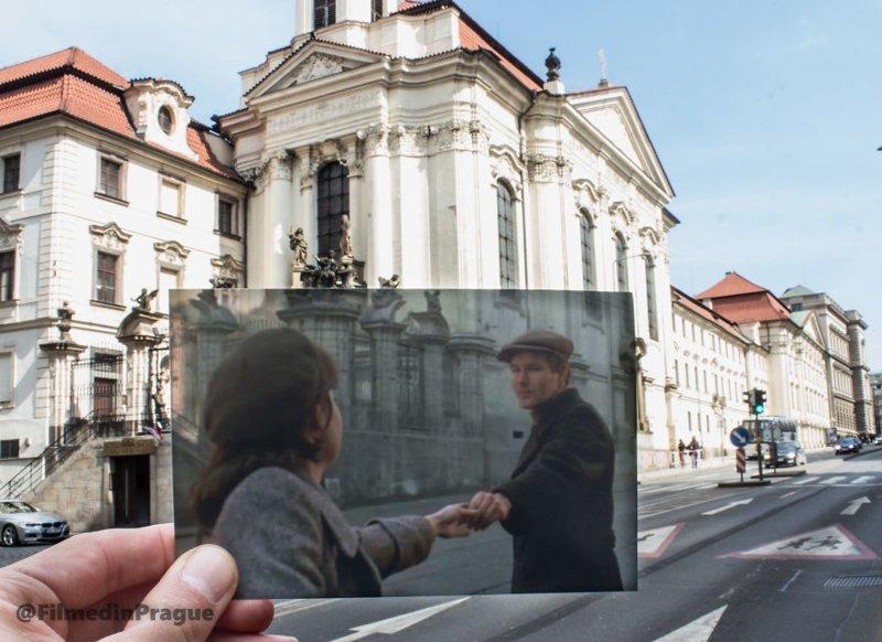 """11. """"Операция Daybreak"""" (1975 г.) - фильм о ликвидации чешским сопротивлением Рейнхарда Гейдриха, начальника Главного управления имперской безопасности третьего рейха. Его называли """"Пражским мясником"""" воссоздание, интересно, кадры из фильма, кино, красота, места из фильма, прага, фотопроект"""