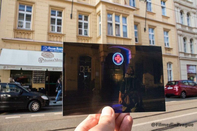 """17. """"Блэйд 2"""" (2002 г.) - Станция переливания крови на """"парижской"""" улице воссоздание, интересно, кадры из фильма, кино, красота, места из фильма, прага, фотопроект"""