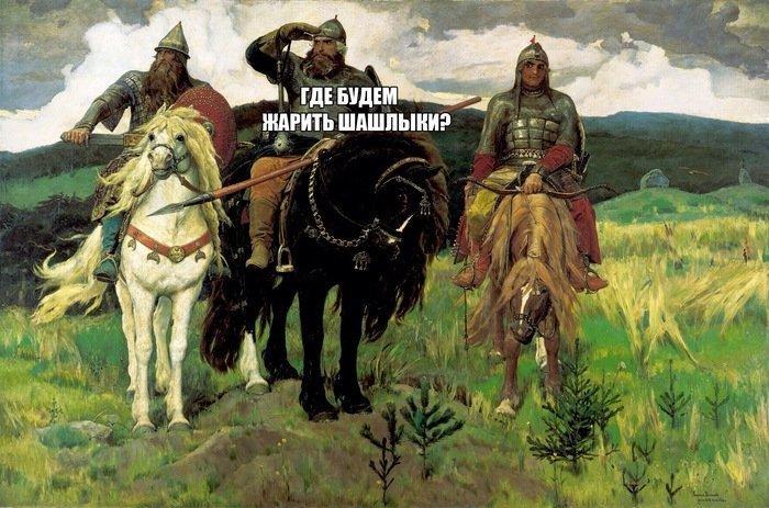 К слову, лагерь отмечающих в тысячи раз превосходил лагерь работающих на огородах 1 мая, май, майские, праздники, прикол, россия, шашлыки, юмор
