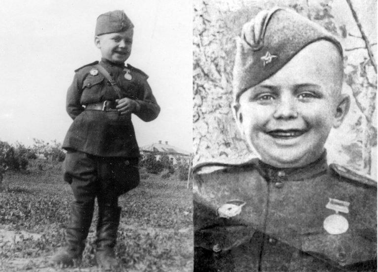 Сирота Великая Отечественная Война, Сергей Алешков, маленький солдат, молодой солдат, сын полка