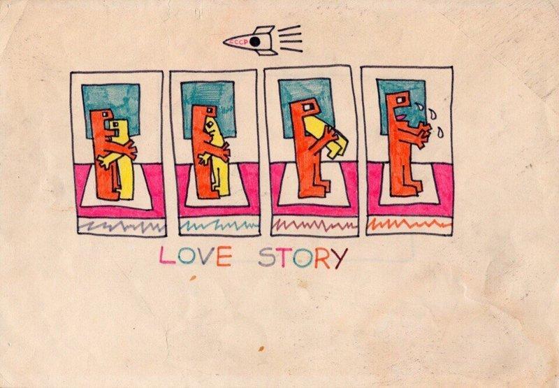 2. В рисунках, преимущественно выполненных фломастерами, музыкант показывал свое видение жизни в СССР, как перипетии судьбы сливались с творческим хаосом виктор цой, группа кино, кино, рисунки, художник, цой