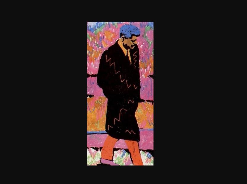 """9. """"Портрет Джона Кеннеди"""" продали на аукционе современного российского искусства """"Vladey"""" за 15 тыс евро виктор цой, группа кино, кино, рисунки, художник, цой"""