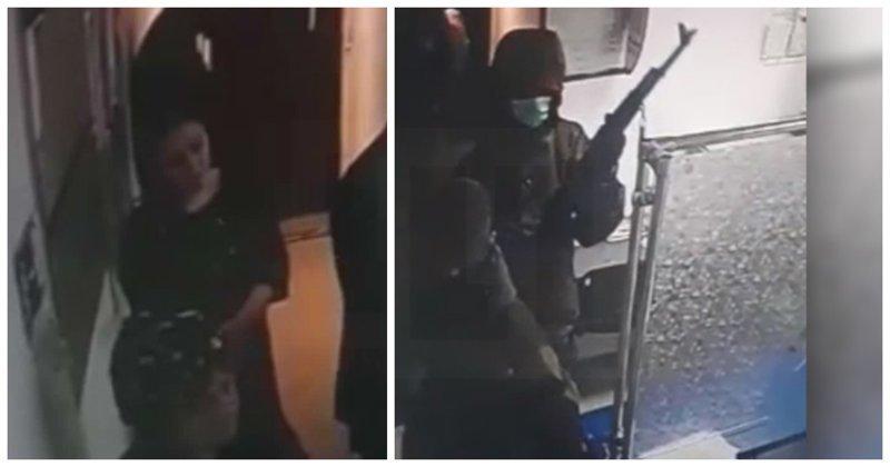 В Ингушетии бандиты с оружием напали на почту: видео ynews, Назрань, видео, ингушетия, ограбление, почта россии, происшествие