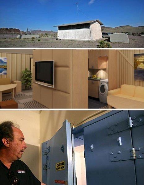 Один из таких бункеров в Калифорнии бомбоубежища, бункеры, военное, выживание, интересное, факты