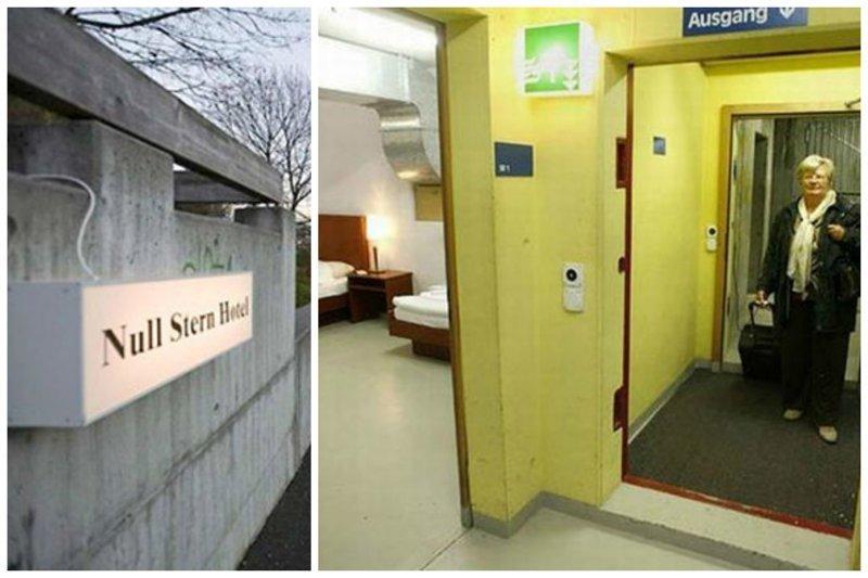 Отель 0 звезд  Null Stern Hotel, работает в городке Севелен, Швейцария. бомбоубежища, бункеры, военное, выживание, интересное, факты