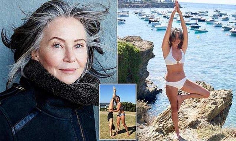 59-летняя модель раскрывает секрет своей молодости Луиза Кенни, бабушка-модель, вверх ногами, йога, модель, неожиданно, секрет ее молодости, удивительно