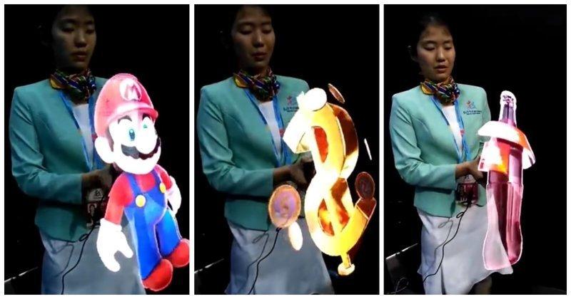 На выставке в Гонконге детям показали генератор невероятно реалистичных голограмм видео, голограмма, гонконг, интересное, китай, технологии
