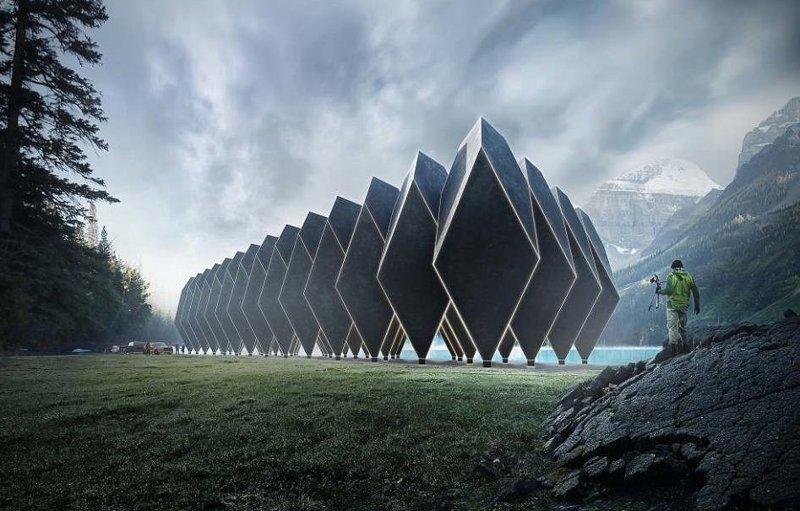 Отель будущего будет дружить с природой Отель, архитектура, гостиница, искусство, невероятно, необычно, странная конструкция, футуризм