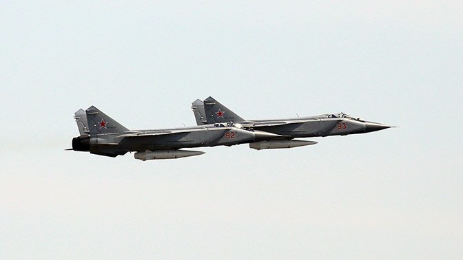 МиГ-31К с комплексом «Кинжал» на репетиции парада Победы: фото авиация, миг-31, опк, парад победы