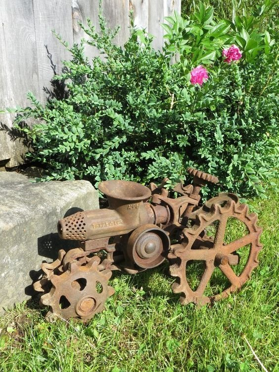 И просто прикольная скульптура для сада. Фабрика идей, байк, велосипед, интересно, картинг, коляска, смешно