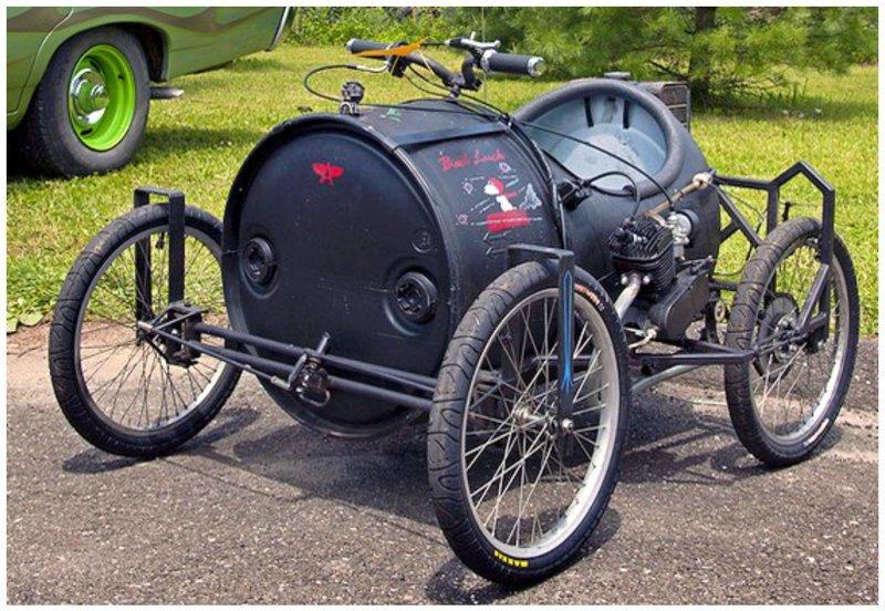 Старые бочки в ход! Фабрика идей, байк, велосипед, интересно, картинг, коляска, смешно