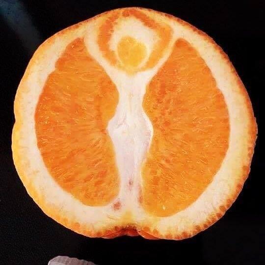 Апельсиновая богиня иллюзии, прикол, фотофакт, юмор