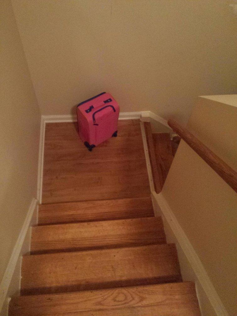Этот чемодан действительно не хочет уезжать иллюзии, прикол, фотофакт, юмор