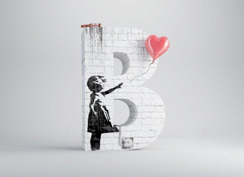 Бэнкси алфавит, буква, дизайн, креатив, фантазия