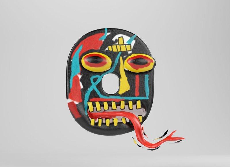 Жан-Мишель Баския алфавит, буква, дизайн, креатив, фантазия
