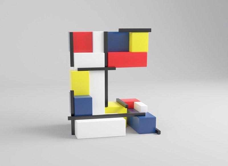 Пит Мондриан алфавит, буква, дизайн, креатив, фантазия