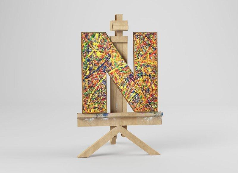 Джексон Поллок алфавит, буква, дизайн, креатив, фантазия