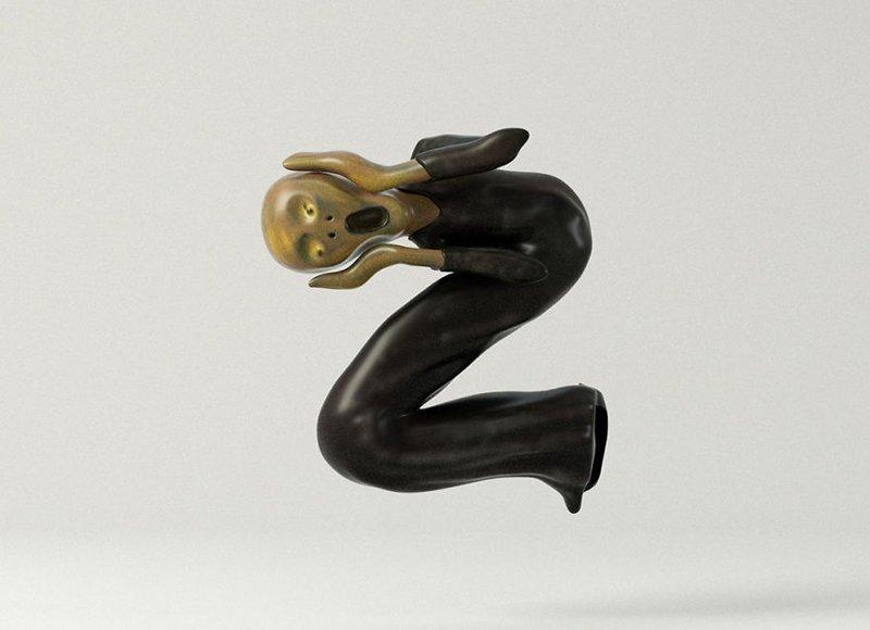 Эдвард Мунк алфавит, буква, дизайн, креатив, фантазия