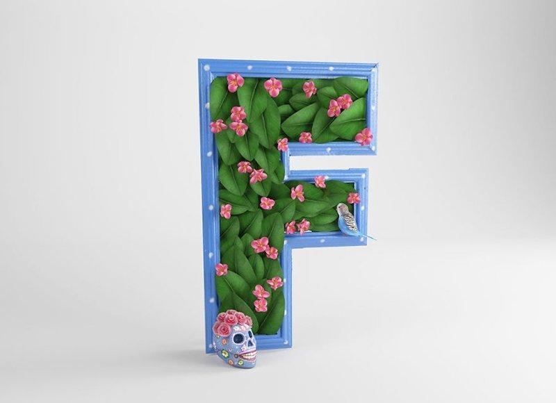Фрида Кало алфавит, буква, дизайн, креатив, фантазия