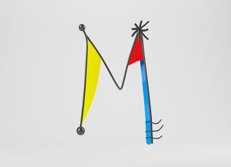 Жоан Миро алфавит, буква, дизайн, креатив, фантазия