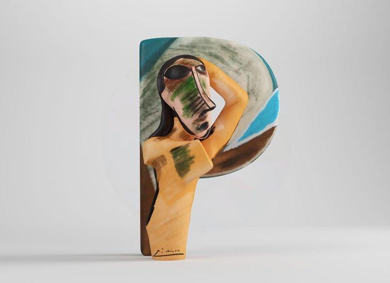 Пабло Пикассо алфавит, буква, дизайн, креатив, фантазия