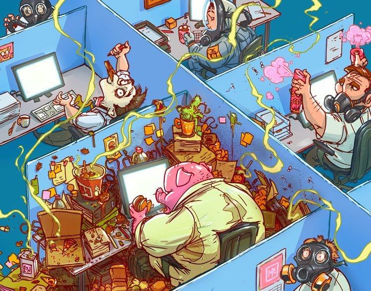 Хрюшка Михаил Дзекан, в мире, карикатура, люди, мир, рисунок, фантазия, художник
