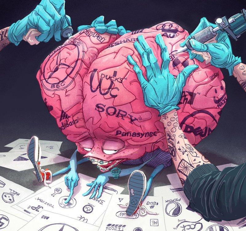 Испорченный мозг Михаил Дзекан, в мире, карикатура, люди, мир, рисунок, фантазия, художник
