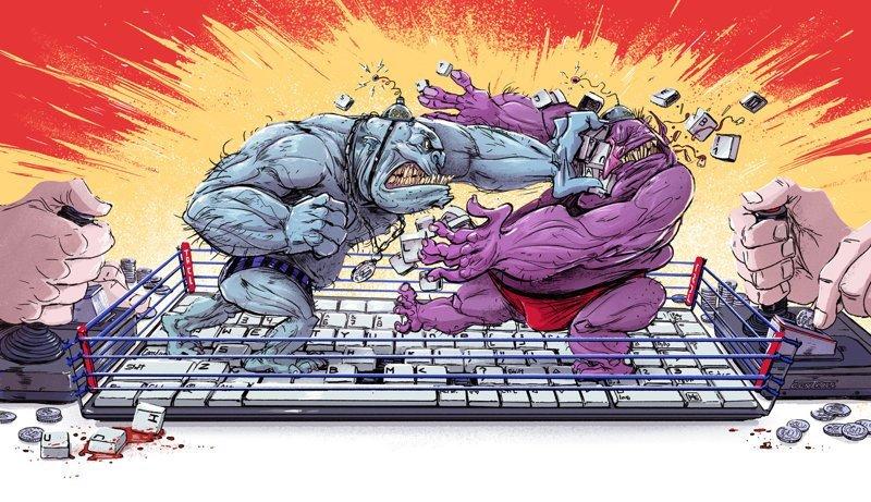 КонТролль Михаил Дзекан, в мире, карикатура, люди, мир, рисунок, фантазия, художник