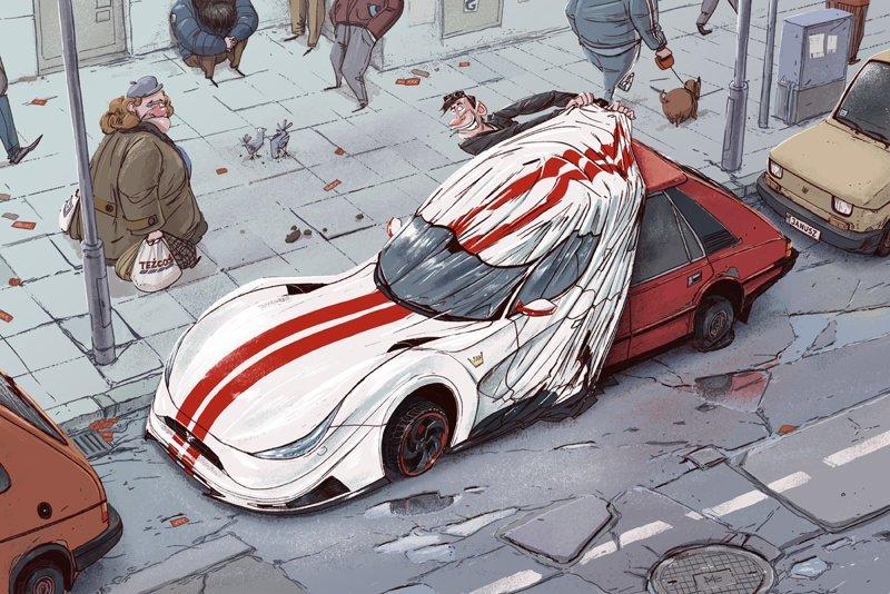 Аффирмация Михаил Дзекан, в мире, карикатура, люди, мир, рисунок, фантазия, художник
