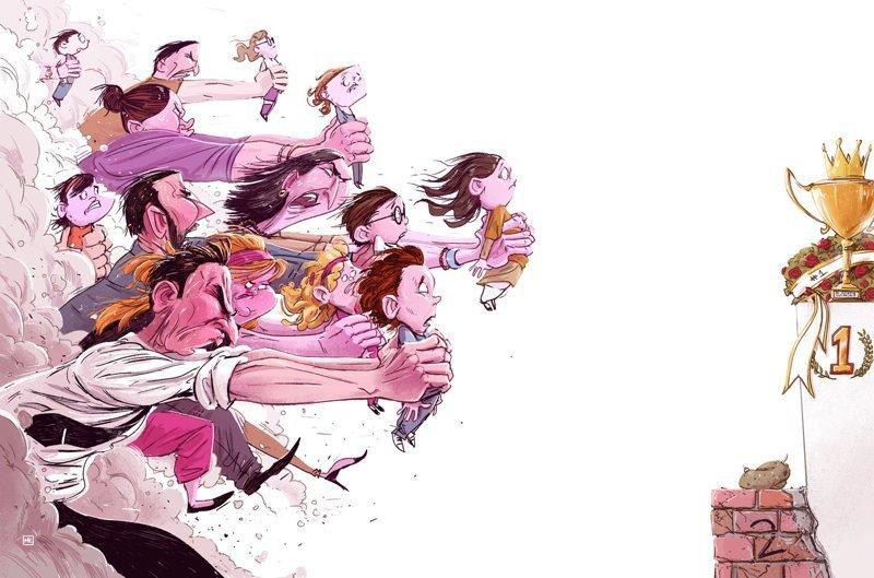 Гонка Михаил Дзекан, в мире, карикатура, люди, мир, рисунок, фантазия, художник